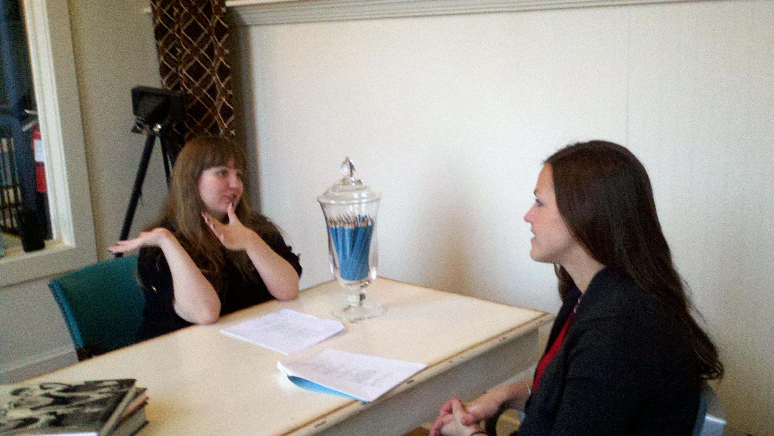 (Anna Lantz) gets interesting insights in her information interview
